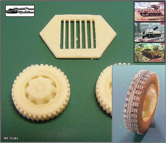Wheels for Sd.Kfz.4/1 Panzerwerfer (for Roden)