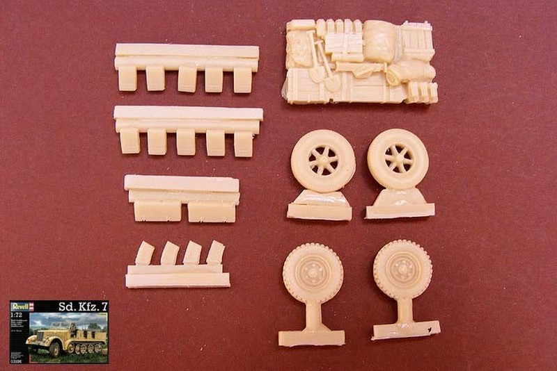Sd.Kfz. 7/1 Equipment (for Revell) - Modell Trans MT72420