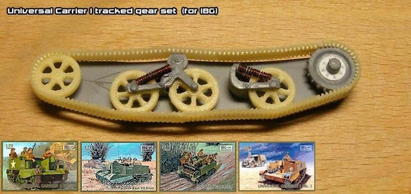 Universal Carrier I tracked gear set  (for IBG) - Modell Trans MT72402